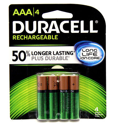 8x Duracell Aaa Rechargeable Battery 800mah Nimh 1.2v 5yr...