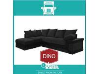 🤠New 2 Seater £229 3 Dino £249 3+2 £399 Corner Sofa £399-Brand Faux Leather & Jumbo Cord𡖎K0