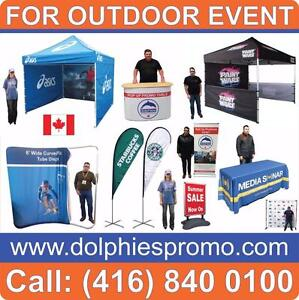 PRO Outdoor Promo Marketing Event HEAVY DUTY Pop Up TENT Frame 10x10 ft + FULL COLOR Printed CANOPY (Dye-Sublimation)