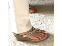 Sparkly Wide Fit Sandals (Size 4)
