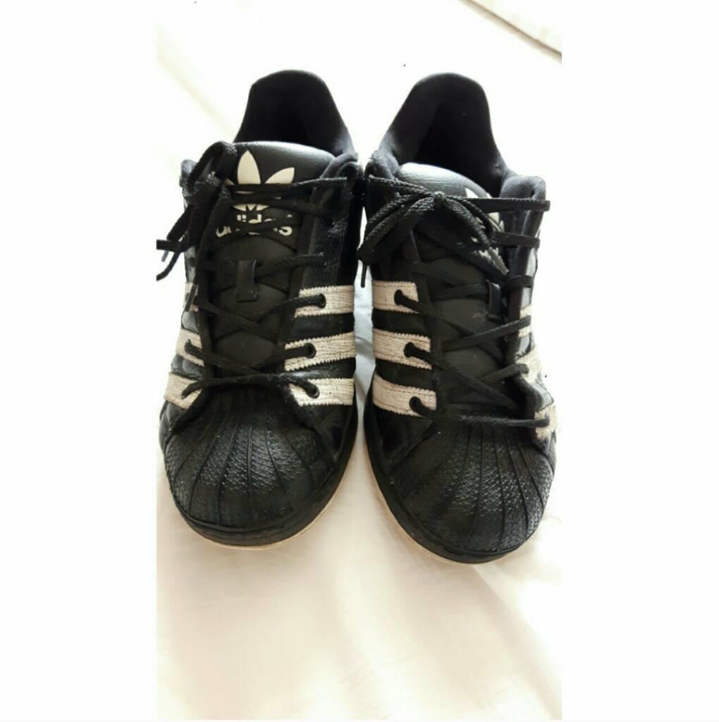 Adidas superstar supermodsin Watton, NorfolkGumtree - Black and Adidas superstar supermods (chunkier than regular superstars) size 8.5, great condition, £25