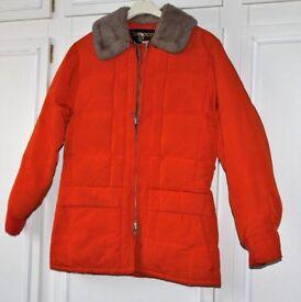 Vintage goose down jacket - orange colour
