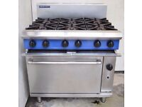 Blue Seal Latest 6 Burner Commercial Catering Gas Cooker Large Oven