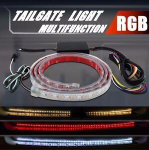 NEW RGB COLOR CHANGING TRUNK TAILGATE 46 IN LIGHT TURN SIGNAL TRUNK
