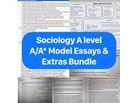 SOCIOLOGY A LEVEL ESSAYS BUNDLE A/A*