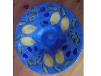 M&S pottery painted fruit bowl / large serving dish
