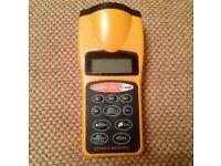 Digital Ultrasonic Laser Distance Meter Range Finder Measure Tape Diastimeter