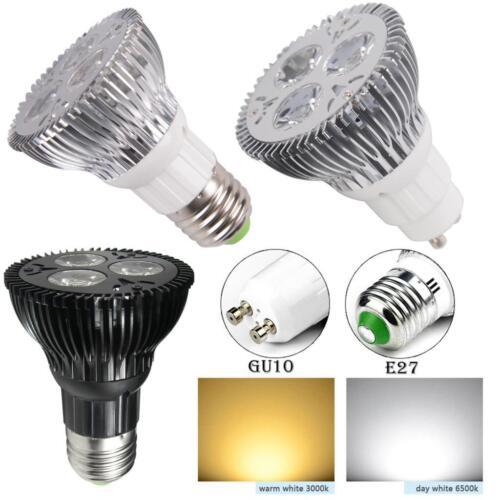 Energy Efficient Flood Lights Indoor: 9w LED PAR20 Bright Floodlight Bulb Medium E27 Base Energy