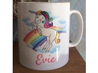 Personalised Unicorn Mugs