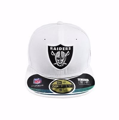 87c90d2e70d ... New Era 59Fifty Kids NFL Cap Oakland Raiders White Black On Field Fitted  Hat фото ...