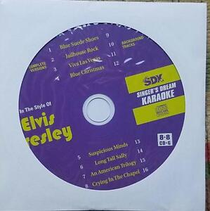 ELVIS PRESLEY KARAOKE ROCK OLDIES CDGM CD+G MULTIPLEX 8+8 - SDK9002