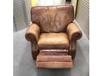 Tanned recliner chair sofa, Free delivery