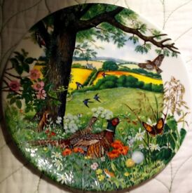 Wedgewood Plate. Colin Newman's 'MEADOWS AND WHEATFIELDS'.