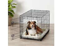 Dog Cage Single Door Folding Metal