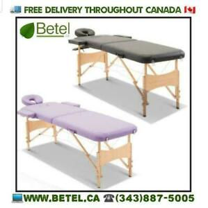 Sale @  WWW.BETEL.CA || Ultra Portable Beechwood Mobile Massage Table || We Deliver FREE!!!