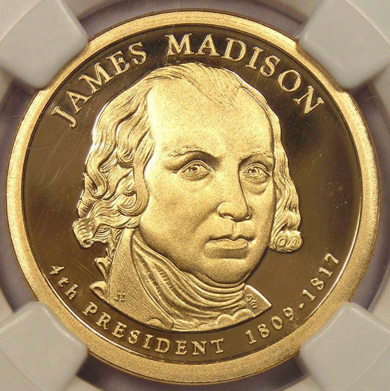 2007-S Proof James Madison Dollar - NGC PF70 Cameo!