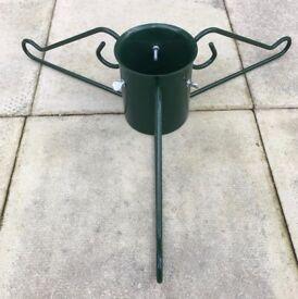 Metal Christmas tree stand - Green 12cm pot