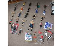 WWE Wrestling Toy Figures Bundle Plus Extras