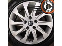 "16"" Genuine Seat Leon alloys Golf Caddy excel cond excel tyres."