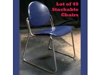 49 CHAIRS StackabIe so ideal Village Hall, Event, School, Office, etc. Good Used Condition N Walsham