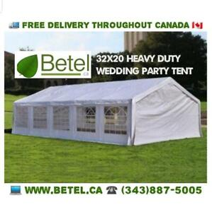Brand New 32x16 • 32x20 • 20x20 • 20x40 Large Wedding Party Event Tent for Sale • 16x32 • 20x32 Heavy Duty Steel Tents