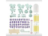 Fondant Sugarcraft Cake Decorating Plunger Cutters Icing Modelling Tool Kit Set