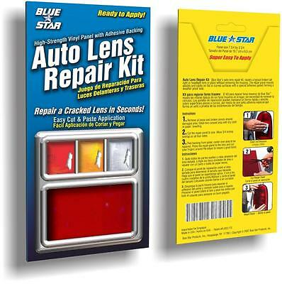 Red Auto Lens Repair Kit Quick Fix Cracked Broken Tail Light Smooth Surface DIY