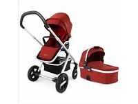 Brand new Nuna IVVI Pushchair ‑ Ruby with carry cot