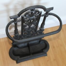 Vintage style cast iron umbrella stand