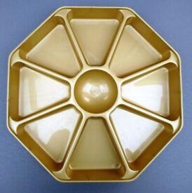 Gold plastic serving platter