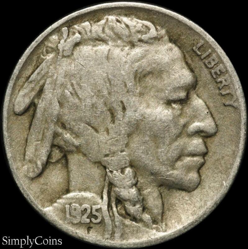 1925 Indian Head Buffalo Nickel ~ Fine ~ US Coin