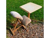 KNEEL/ SIT POSTURE CHAIR WITH DESK WAS £170