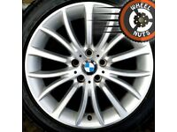 "18"" Genuine BMW 5 series alloys Trafic Vivaro good cond Bridgestone runflats."