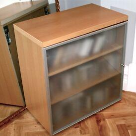 Maskreys frosted glass cabinet