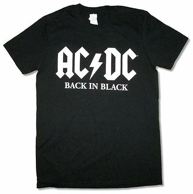 AC/DC Back In Black American Tour 2016 Rock Or Bust Black T Shirt New Official