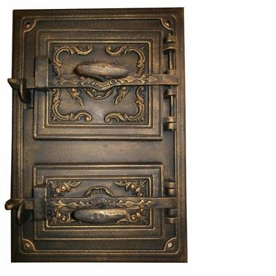 Cast Iron Fire Door Clay Bread Oven Pizza Stove Quality Gold (FS) 47 x 33