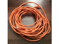 LONG!!!! 8M Ethernet cable ONLY £5!!! in ORANGE & PURPLE Various other sizes 11m 5m 4m 3m 2m 1m 1/2m