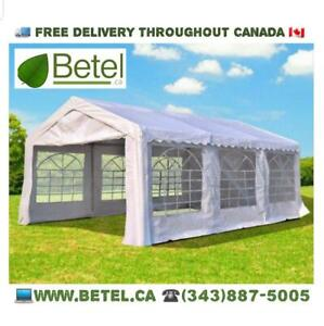 FREE DELIVERY | 20x13 ft Large Wedding Party Event Canopy Tents • 13x20 Heavy Duty Canopy Tent on Steel Frame