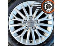 "16"" Genuine Audi A3 alloys Golf Caddy Leon perf cond premium tyres."