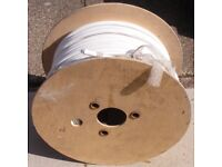 Part reel, 4 (four) core + earth 2.5 sqmm, 75+ m left, black, blue, brown, grey + earth, white outer