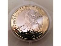 2015 BRITANNIA TWO POUND COIN - 3RD LOW TIME LOW MINTAGE 650.000 - SEALED BRILLIANT UNCIRCULATED