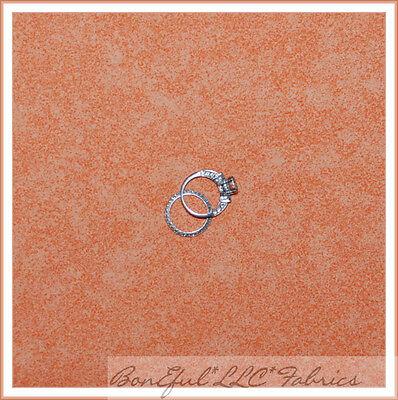 BonEful Fabric FQ Cotton Quilt Orange Peach Pumpkin VTG Texture Sand Tea Dye Dot