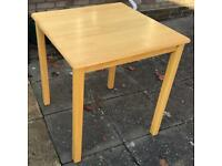 Square table.