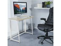 FOLDABLE desk - BRAND NEW - wood grain/ white