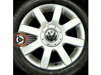 "16"" Genuine VW alloys 5x112 good condition with tyres."