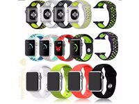 Wholesale Joblots Replacement Silicone Sport Band Wrist Strap For Apple Watch iWatch 38mm 42mm