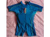 """Childs One Piece Flotation Swim Suit. Size Large, Age 5-6, Chest Size 24"""", Weight Range 45-60lbs."""