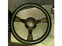 Ford rs 3 spoke steering wheel
