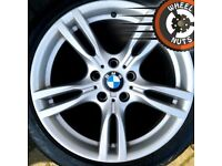 """18"""" Genuine BMW 3 series M Sport alloys staggered excel cond runflat tyres"""