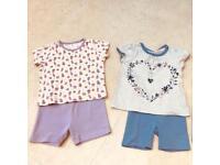 Girls summer PJs x2